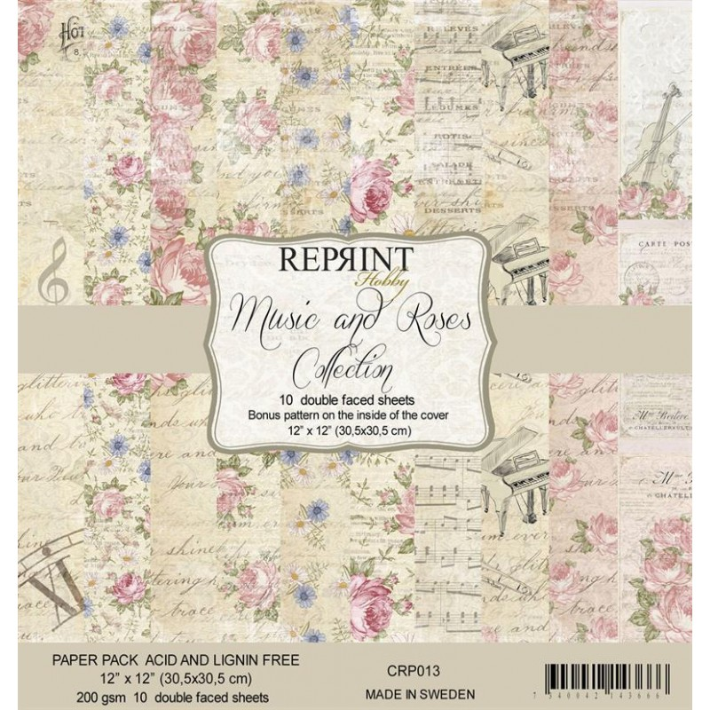 Music and roses collection - Scrap karton