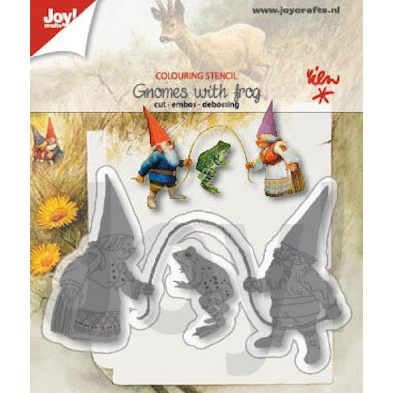 Gnomes with frog - Dies