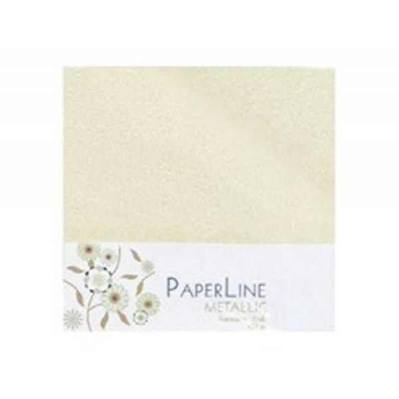Creme metallic kuverter 15x15cm - Ivory metallic envelopes