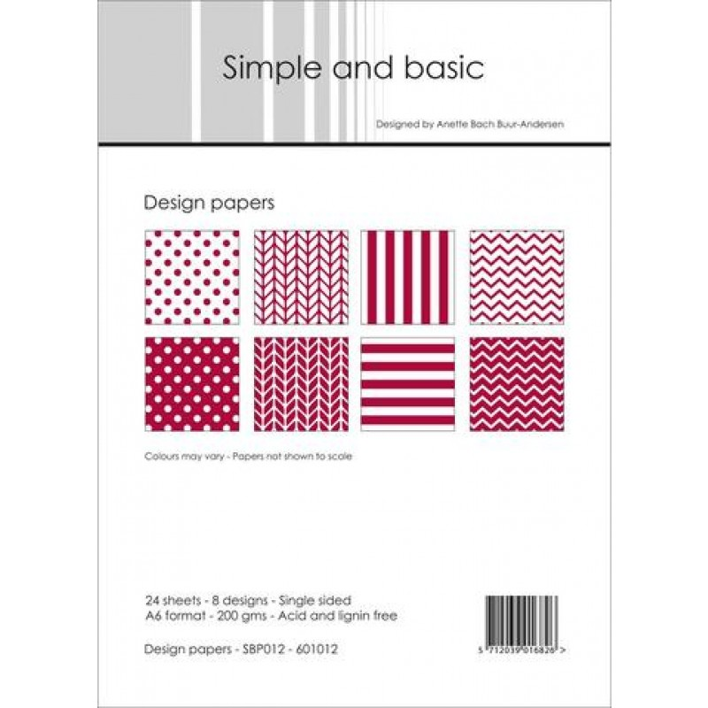 Design paper red - Papirblok