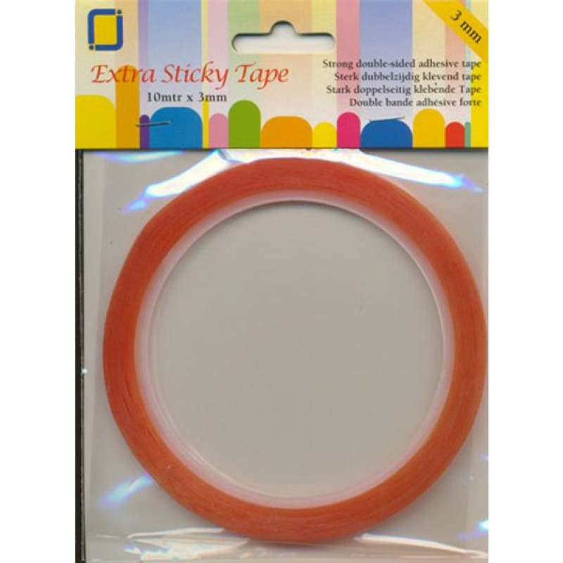 Dobbeltklæbende tape rulle 3mm - Double-sided adhesive tape