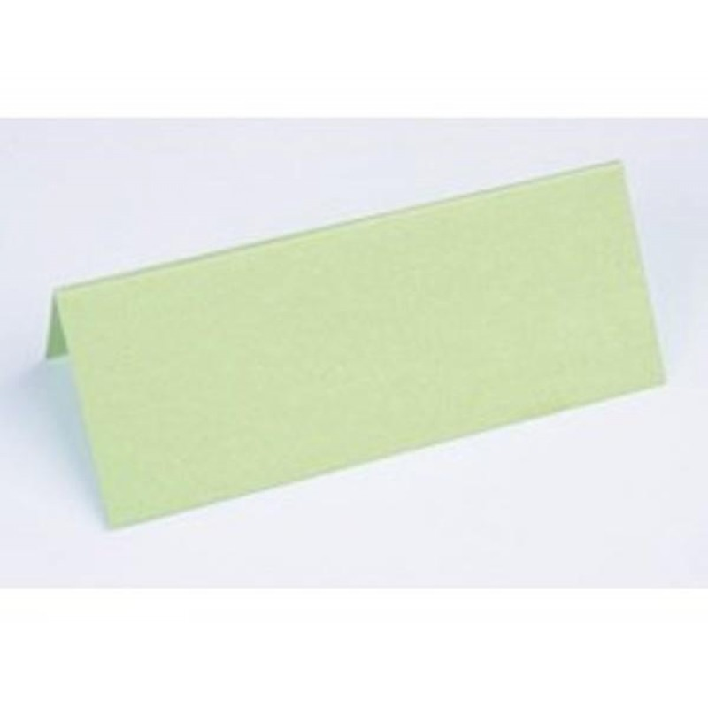 Lime metallic Bordkort - Lime metallic table cards