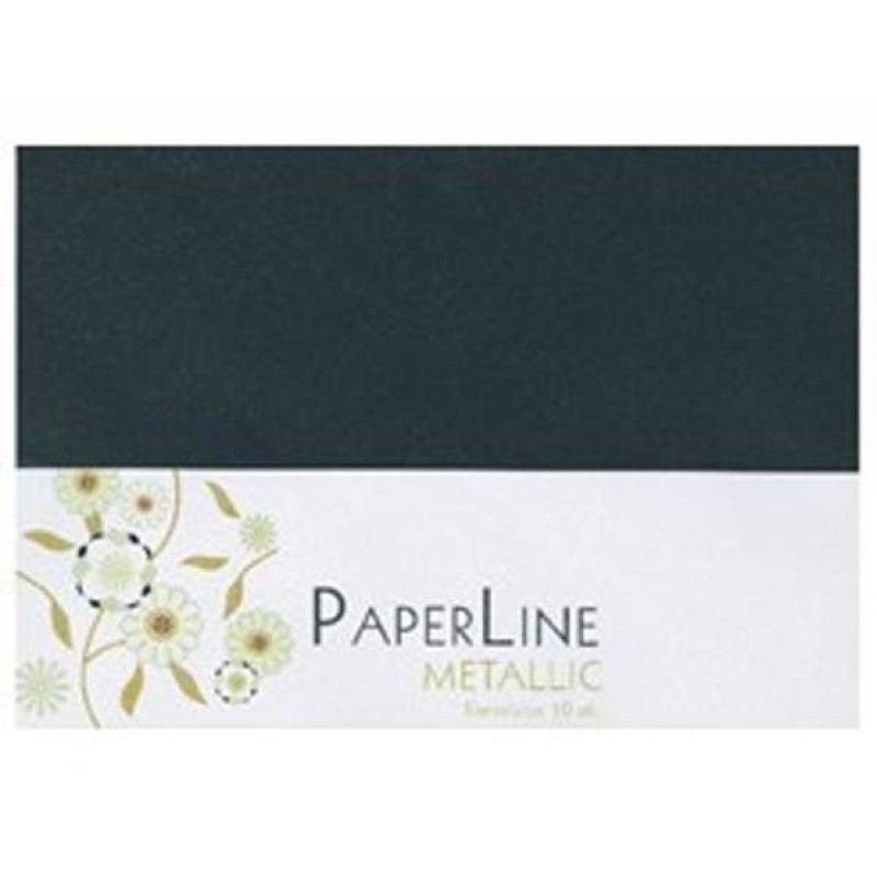 Sorte metallic kuverter C6 - Black metallic envelopes