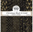 Christmas black & gold - Papirblok