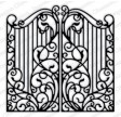 Smedejerns port dies - Wrought iron fence